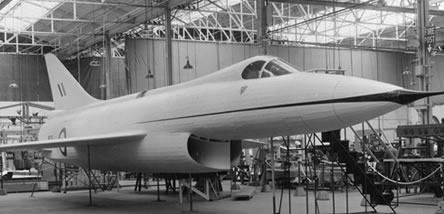 Hawker P.1121 mock-up, 1957