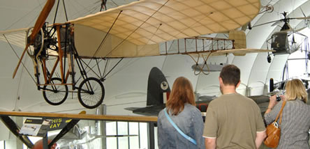 Visitors on the Upper Walkway of our Milestones of Flight Gallery