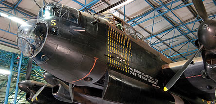 Our Lancaster in Bomber Hall