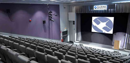 Our London Lecture Theatre capable of holding 224 people.
