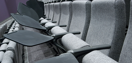 The Seats in our London Lecture Theatre.