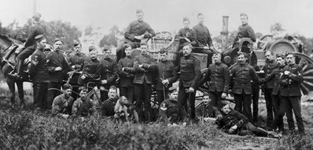 Colonel Templer and the men of the Balloon Section, Royal Engineers, circa 1890