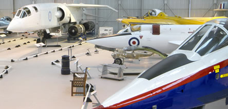 Various Research and Development aircraft at the Museum's Cosford site.