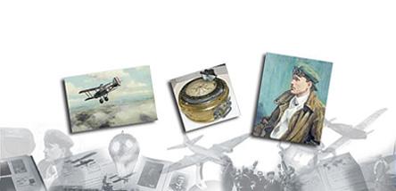 A montage of items that can be found in the Royal Aero Club Collection.