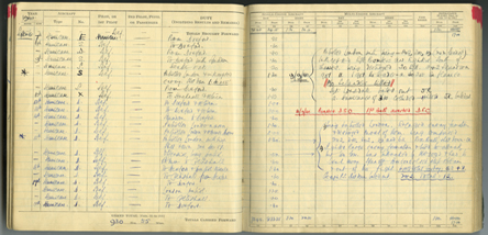 One of our aircraft logbooks.