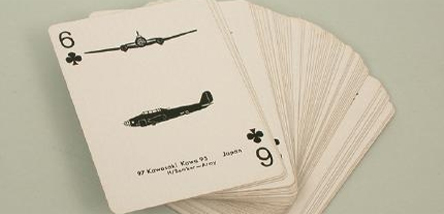 A set of aircraft recognition playing cards.