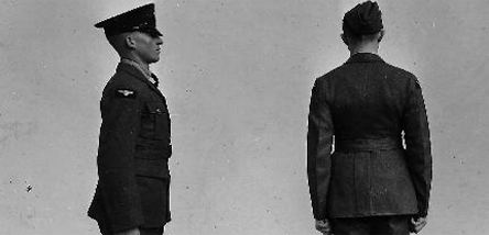 An example of photography of various uniforms held by the Museum.
