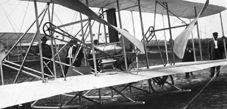 Close up of Wright Flyer, circa 1908