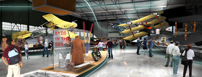 Design Concept for our 'First World War in the Air' Exhibition in London