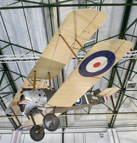 Sopwith Camel on display at RAFM London