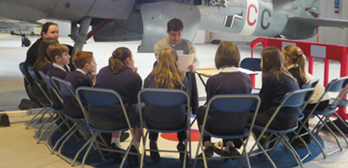 storytelling at Cosford