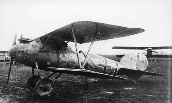 A captured Albatros D.V of Jasta 5, similar to that flown by Edmund Nathanael (RAF Museum X003-2602/19331)
