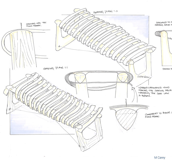 Concept design for outdoor seating  by M Carey