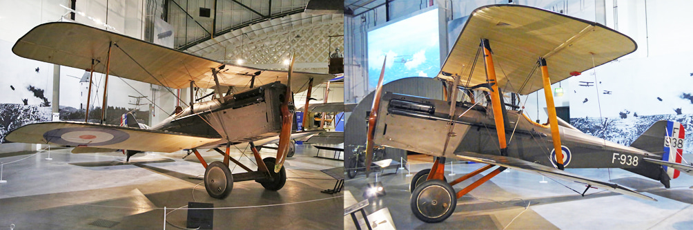 SE.5a aircraft in our First World War in the Air exhibition
