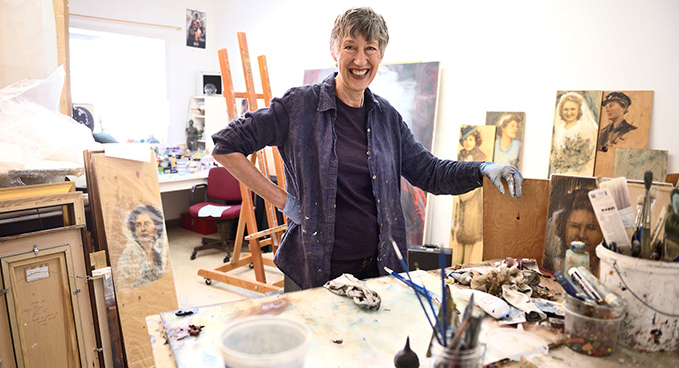 Bev Tosh, Canadian artist, who has created War Brides exhibition