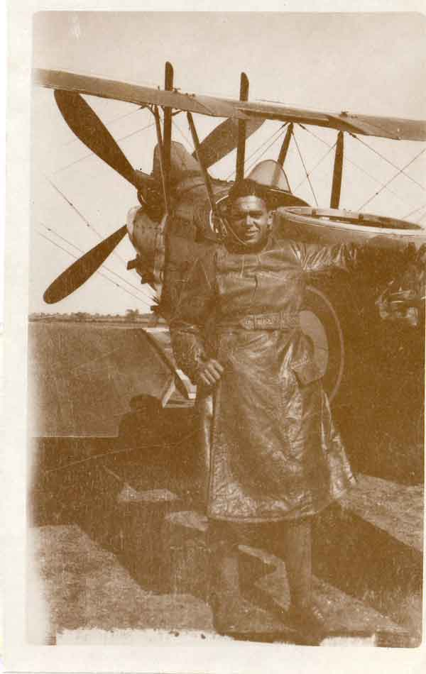 Sgt William Robinson Clarke, Britain's first Black pilot, circa June 1917