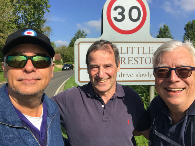 Robin Southwell, Sir Glenn Torpy and Alan Coppin just outside Little Preston