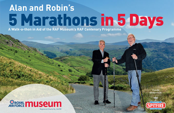 Please sponsor Alan and Robin's 5 Marathons in 5 Days.