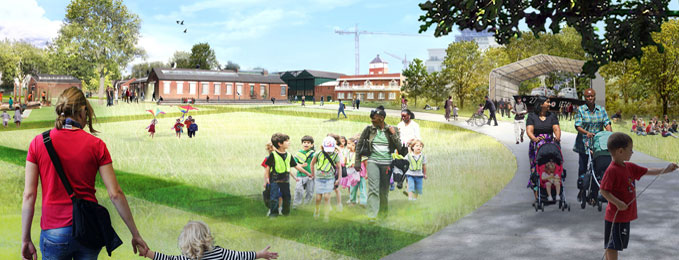 An artist's impression of what our new site will look like once landscaping has occurred.