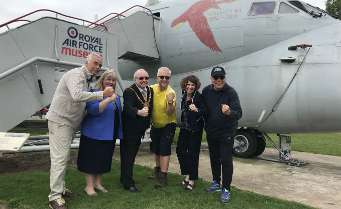 From Left to Right : Robin Southwell OBE, The Lady Mayoress of Wolverhampton Margaret Findlay, The Mayor of Wolverhampton Barry Findlay, Nick Sanders, Museum CEO Maggie Appleton, & Alan Coppin