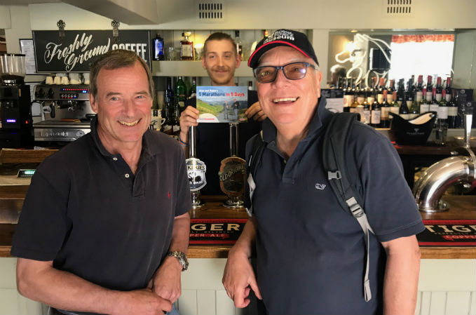 Sir Glenn Torpy (Left) and Alan Coppin (right) in the Whitehorse in Stowe