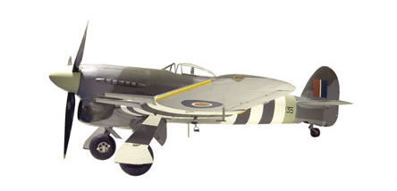 The completed Hawker Typhoon, image taken when previously on display at our London site.