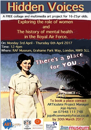 Hidden Voices - A workshop on the history of women in the RAF.