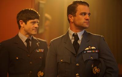 Ewan Rheon (left) as Jan Zumbach and Milo Gibson (right) as John A Kent 'Kentowski'