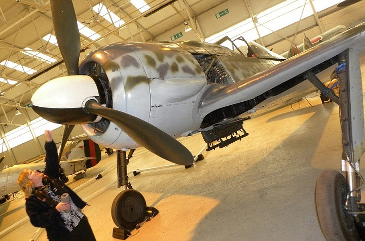 Focke-Wulf Fw 190 now on display at Cosford