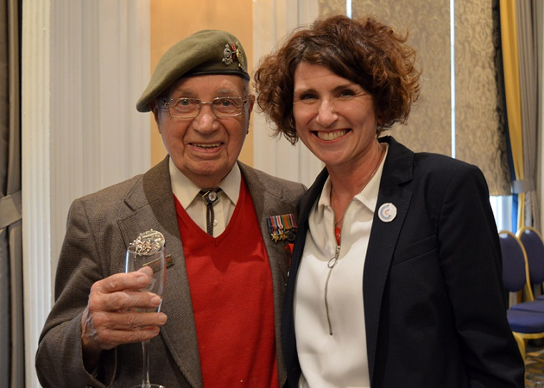 Arthur Jones with RAF Museum CEO Maggie Appleton