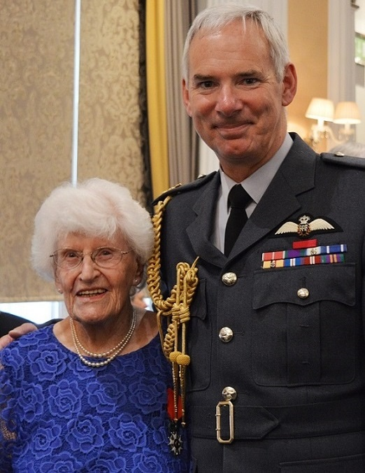 Rose Davies with Chief of the Air Staff, Air Chief Marshal Sir Andrew Pulford