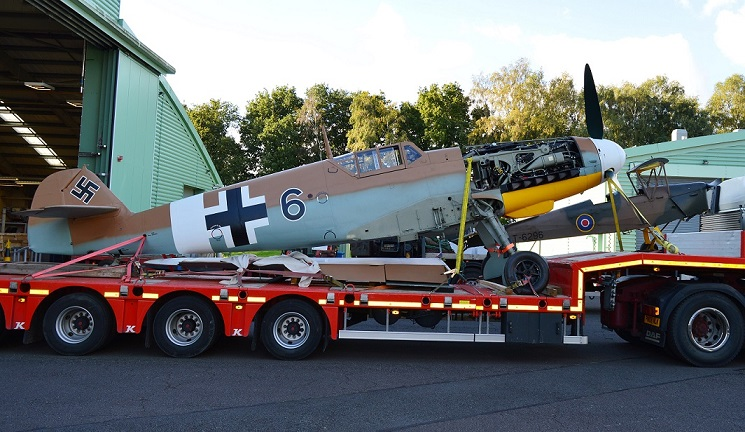 Bf109 and Tiger Moth arrival at Cosford