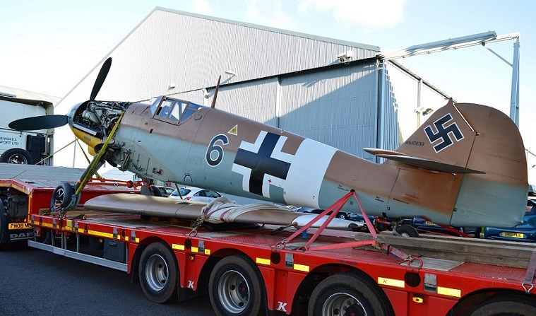 Bf109 arriving at Cosford