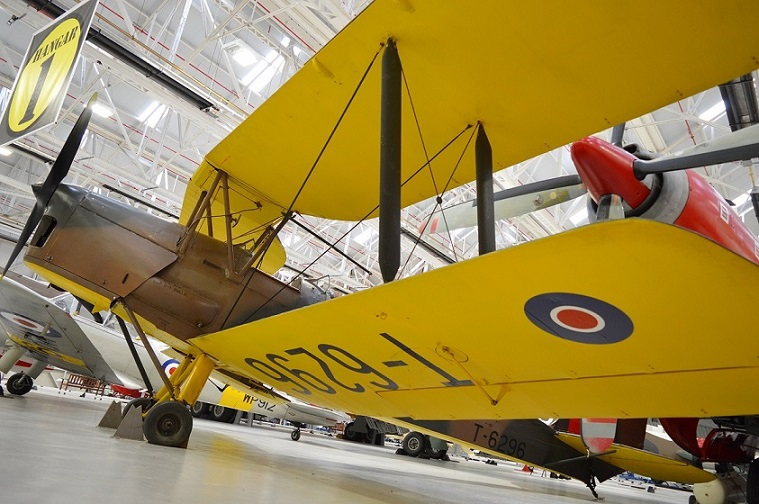 Tiger Moth on display in Hangar 1