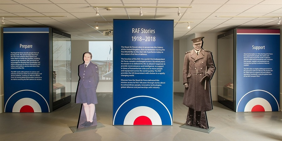 The RAF100 Display at the Royal Air Force Museum Cosford