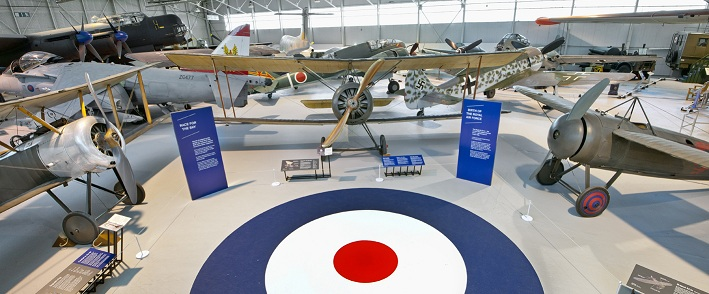 (L-R) Sopwith Pup, Sopwith 1 1/2 Strutter and the Bristol M1c