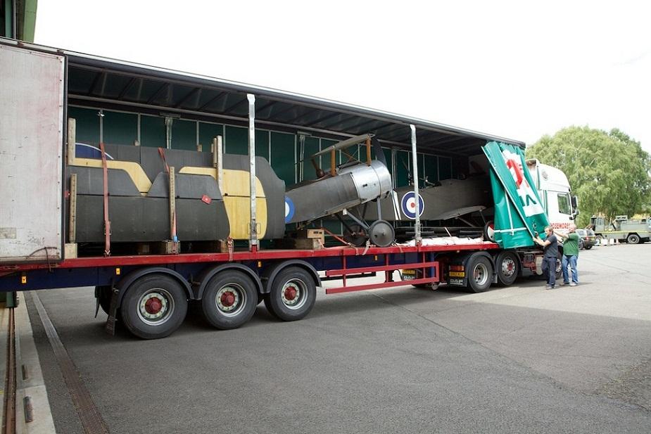 First World War aircraft arriving at Cosford