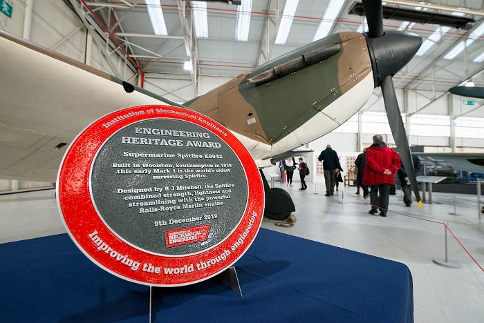 Spitfire Mk 1 IMechE Heritage Award