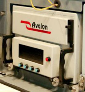 the front panel of an Avalon wideband tape recorder