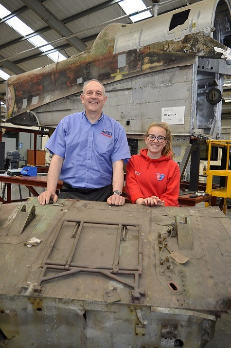 Conservation Centre Manager Darren Priday with work experience student Beth Halbard