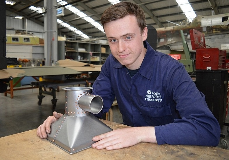 Matthew Treanor-Cartwright with his ducting test piece