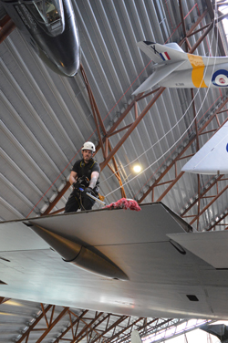 Vulcan wing at Cosford