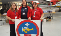 Scouts flying high at RAF100 Air Researcher Badge Cosford Launch