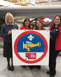 RAF100 Scout Badge Launch