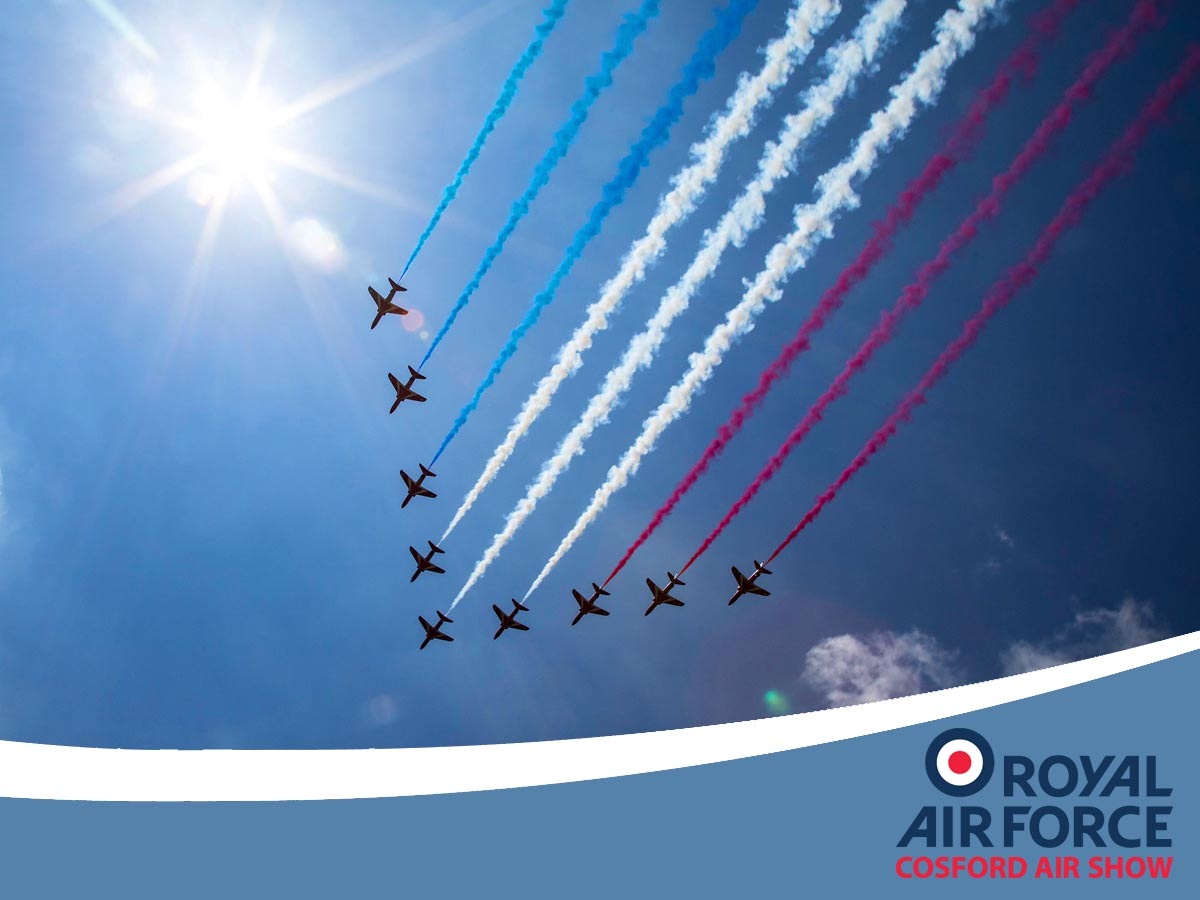 Red Arrows at RAF Cosford Air Show