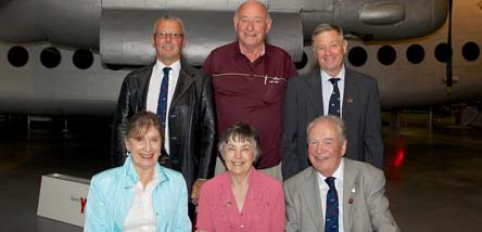 Volunteers at Cosford marking 20 Years Service