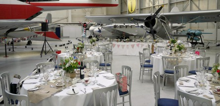 Wedding Reception in Hangar One