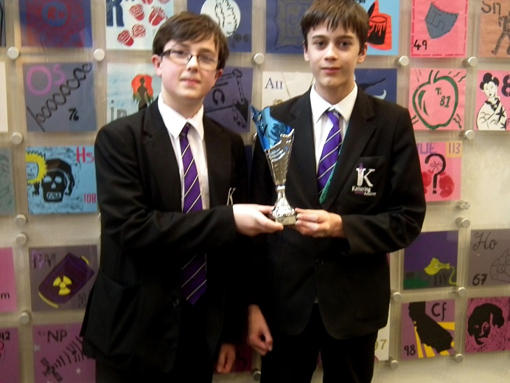 Kettering Science Academy students with their trophy