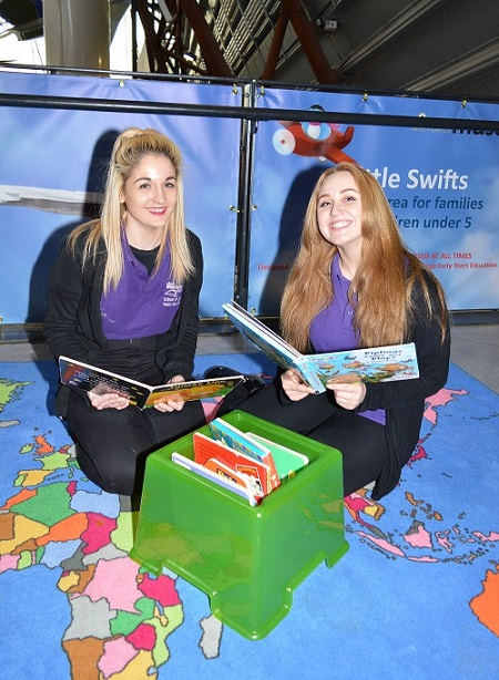 Flying themed books are avilable for youngsters to read