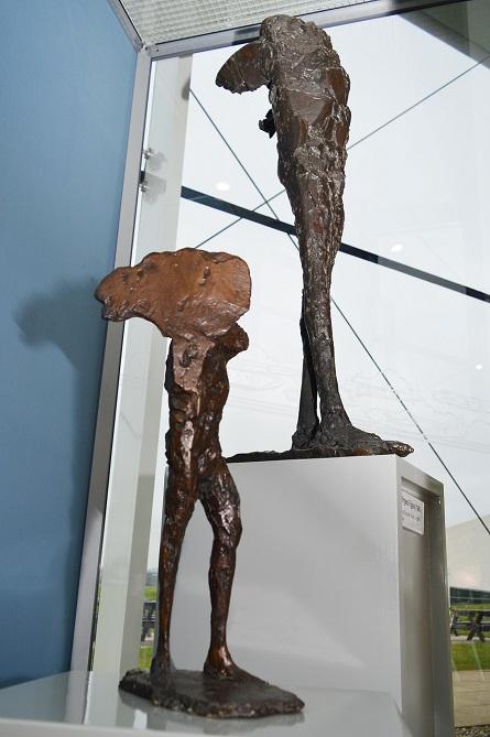 Elisabeth Frink sculptures on display at RAF Museum Cosford